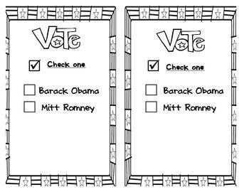 nomination ballot template
