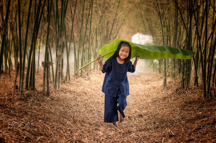 Rural children at the forest. - Rural children at the forest.