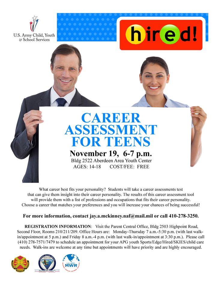 Career test for teens