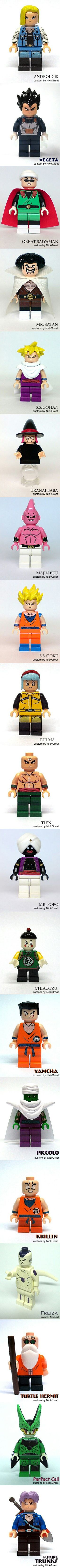 Dragon Ball Z Warriors Collection Lego style. I Kill for this.
