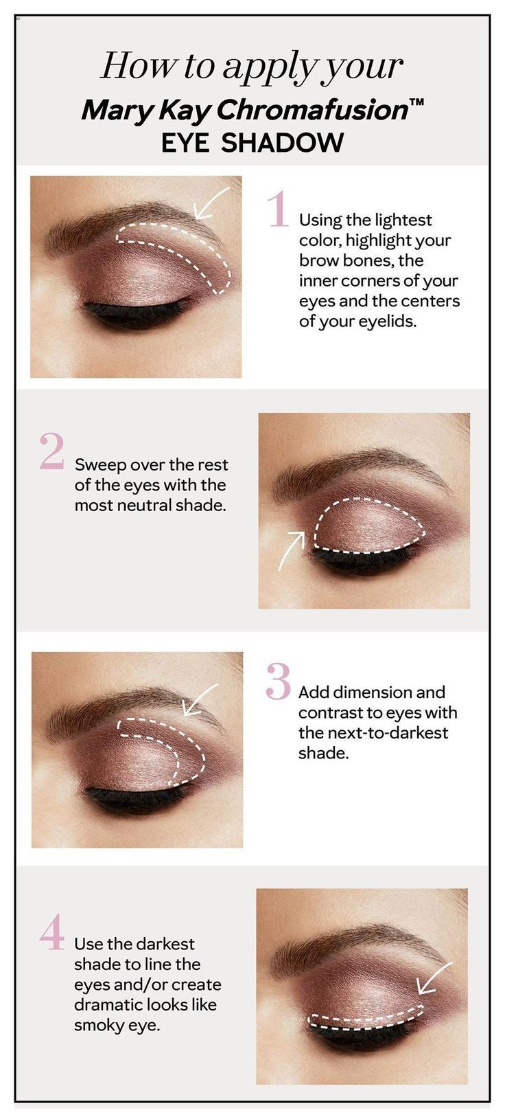 Eyeshadow Application Tips - Ashley Muench - Best Pins  Mary kay