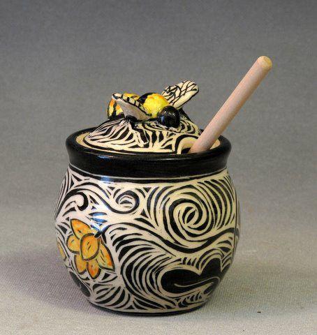 66 Best Pottery Honey Jars Images On Pinterest