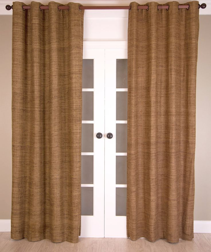 #P189 Bronze RAW SILK Curtain (Use Discount Code) Pay 1/2 Down