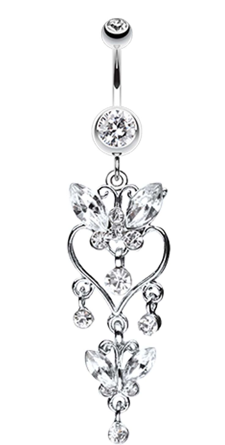 Butterfly Extravagance Belly Button Ring