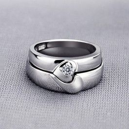 Share on your Google+/Facebook timeline or Pin it to get instant discount coupon. Magnetic Half Heart Shaped Wedding Rings with Custom Engraving