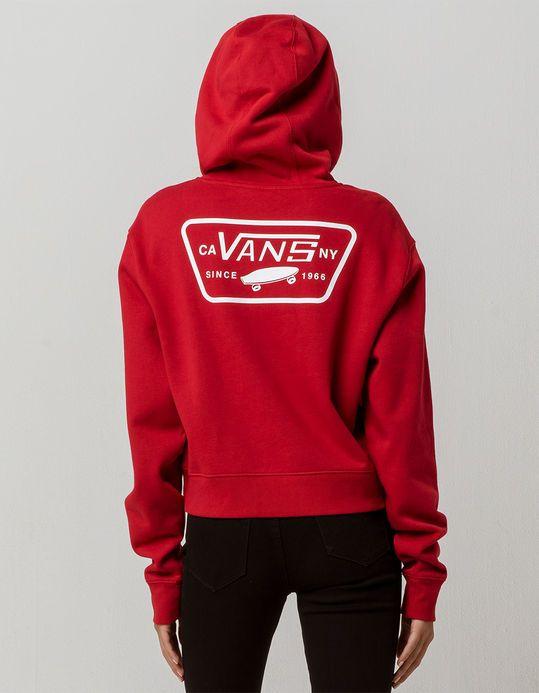 0584e04fd0 VANS Scooter Womens Crop Hoodie | clothes in 2019 | Vans hoodie ...