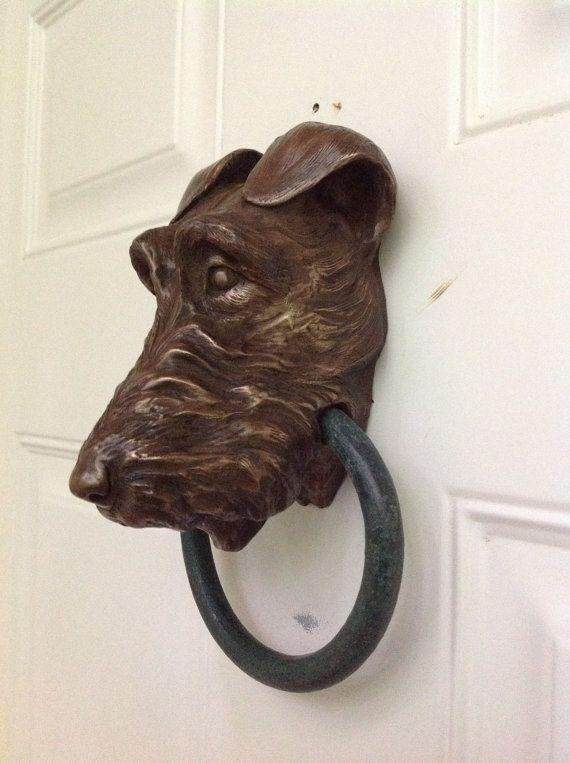 Irish Terrier Doorknocker by Dogknockers on Etsy