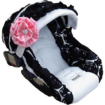 This site has really cute baby stuff...I Love this! Since I had 2 little boys first most of my stuff is boyish.. These are covers that are really girly that I can put over the seat for my little girl! I love it!!