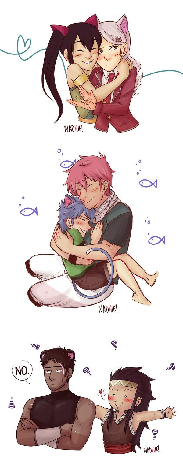 Me too!! by Chipiron on DeviantArt Gajeel is so cute!! <<<< NATSU AND HAPPY ARE SO ADRORABLE I CANT EVEN OMG