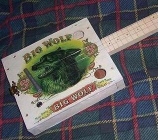 Cigar Box Guitar Bog Wolf - Folksy