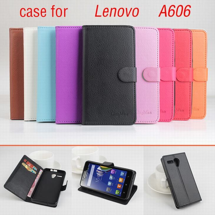 9 colors Classic Leather case For Lenovo A606 A 606 Flip Cover case housing With Card Slot for LenovoA606 Phone Cover Cases #Affiliate