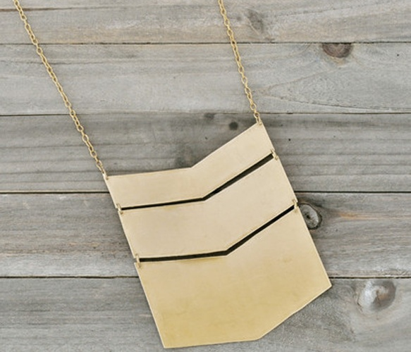 Chevron Golden Necklace