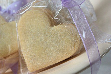 Scottish Shortbread Heart Wedding Favours