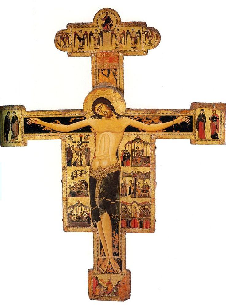 Croce dipinta. 1200-1210, 298x233cm. Pisa, Museo nazionale di San Matteo - Византийский мастер распятия из Пизы — Википедия