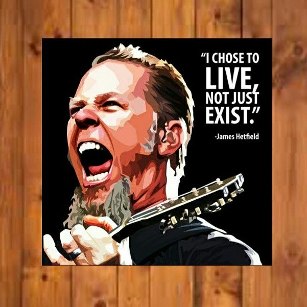 """I Choose To Live, Not Just Exist.""- James Hetfield Size - 10"" × 10""  DM Us or WhatsApp us directly to order now No. +91 8691803585 Site : www.popartfactory.in  #jameshetfield#Americanmusician#singer#songwriter#guitarist#songwriter#Americanheavymetalband#Metallica#artwork#frames#wallart#artist#artgram#Quotes#hollywood#popartfactory"