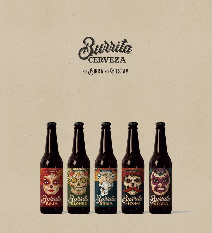 "Consultare la pagina di questo progetto @Behance: ""Cerveza Burrita"" https://www.behance.net/gallery/43826727/Cerveza-Burrita #packaging"