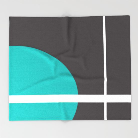 Line Throw Blanket by Müge Başak - $49.00