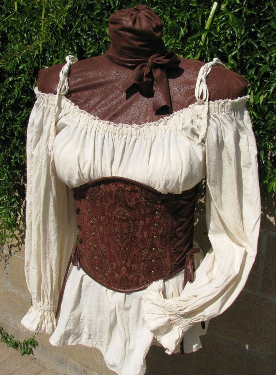 Medieval Renaissance Steampunk Lace Trimmed Off by CurvyWench