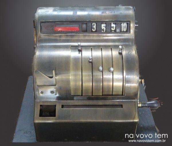 Antiga Maquina Caixa Registradora Decorativa - Medida : 45 cm X 43 X 42. / Ref. - 961