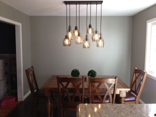 My Dining Room Table And FINALLY...my Dining Room Light Fixture Arrived U0026
