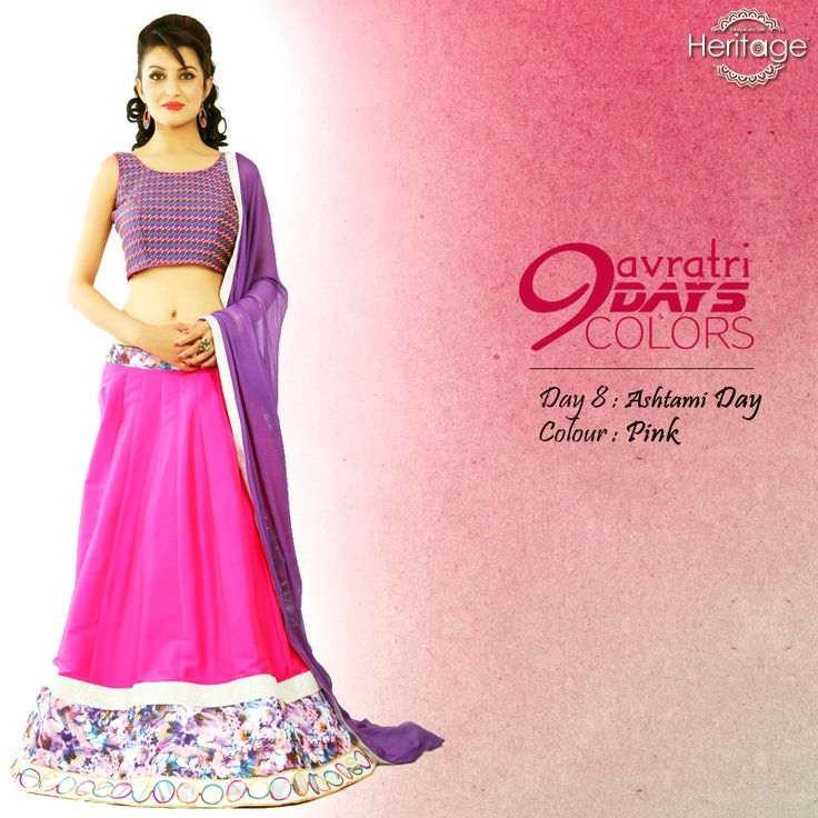 Isn't #pink just a wonderful colour? Try our adorable pink traditional wears with matching jhumkas & bangles on this 8th day and look fabulous.