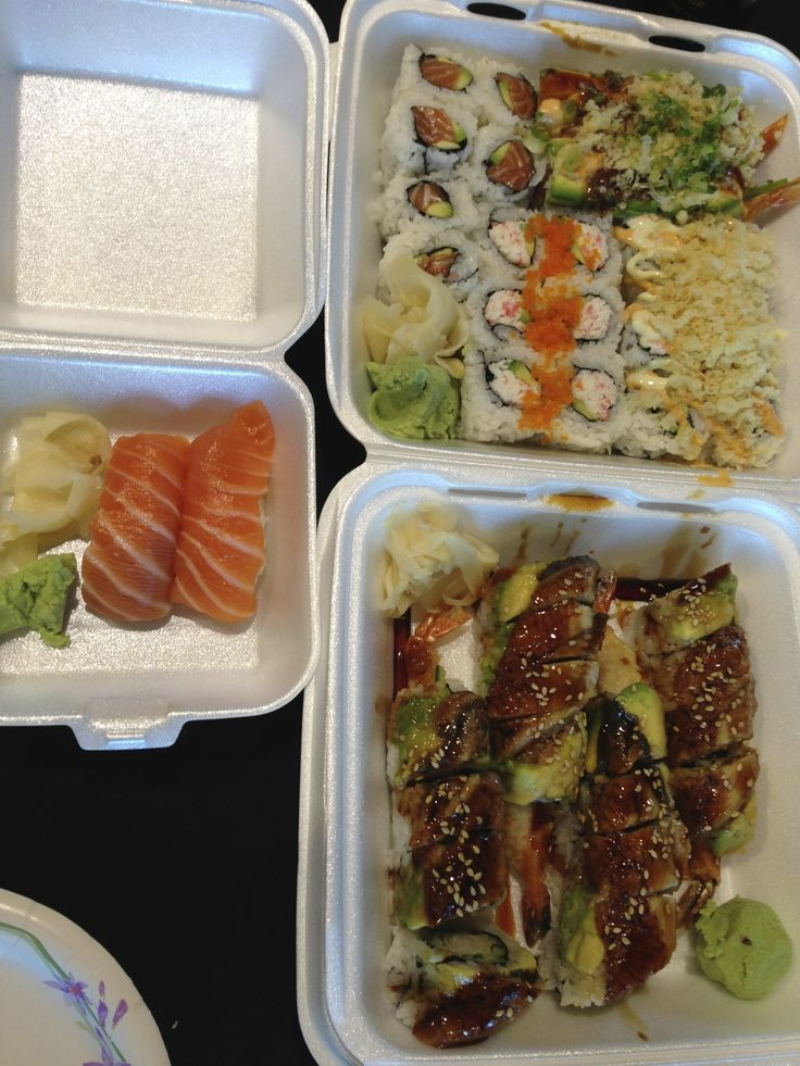 Assorted sushi from Yuki Sushi in Willow Glen 1140 Lincoln Ave, San Jose