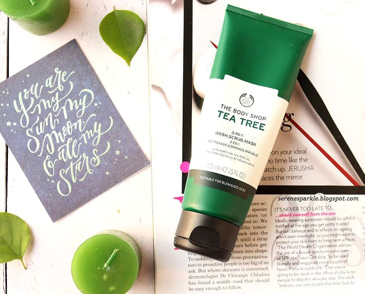The Body Shop Tea Tree 3-in-1 wash, scrub and mask is one of best products that you can try if you have blemish and acne prone. It's cooling and super effective. A must have summer skincare product !