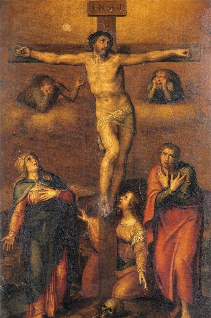 Michelangelo - Crucifixion, 1540 (wikipaintings)