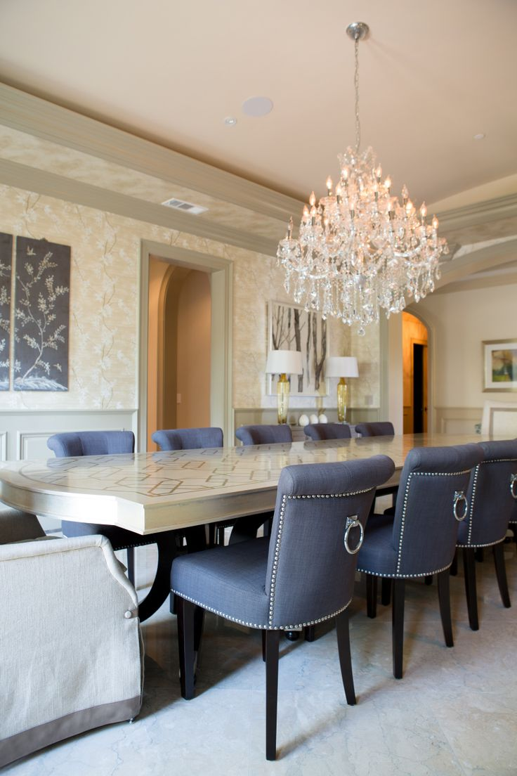 Formal Dining Room With Custom Lacquer Table And Upholstered Interesting Charcoal Dining Room Design Decoration