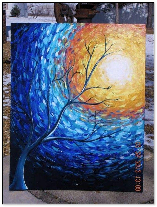 48 Easy Acrylic Canvas Painting Ideas For Beginners Canvas
