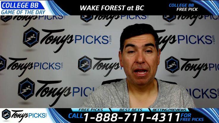 Wake Forest vs. Boston College Eagles Free NCAA Basketball Picks and Pre...
