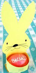 Printable Easter bunny egg holder