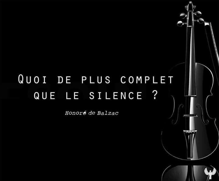 Quoi de plus complet que le silence ? Honoré de Balzac