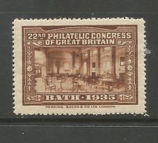 GB/UK Bath 1935 22nd Philatelic Congress of Great Britain poster stamp/label (D)