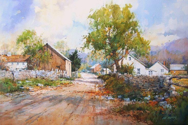 Ian ramsay watercolors ian ramsay watercolorist for Paisajismo urbano