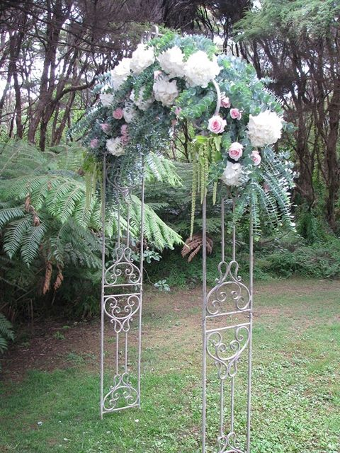 A stunning floral archway for your outdoor I do's