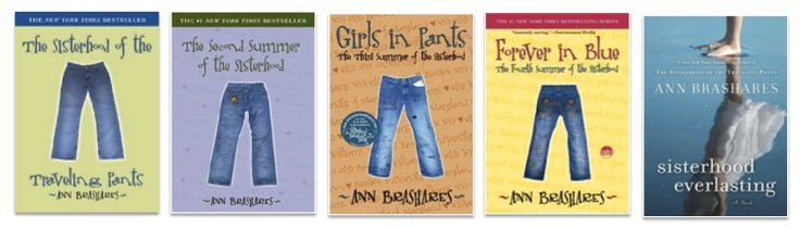 The Sisterhood of the Traveling Pants series--such a delightful one. Totally recommend for young adult readers, paints a great picture of the endurance of female friendships.
