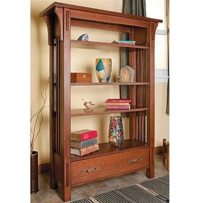 17 best images about bookcases on pinterest contemporary for Craftsman style bookcase plans