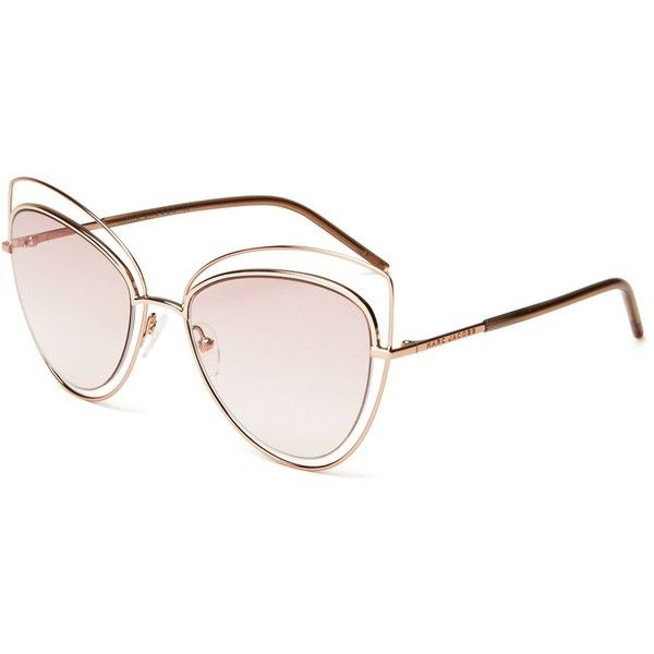 Marc Jacobs Floating Cat Eye Sunglasses, 56mm featuring polyvore, women s  fashion, accessories, eyewear, sunglasses, cat eye sunglasses, cate…   A.. fbe1cac09a