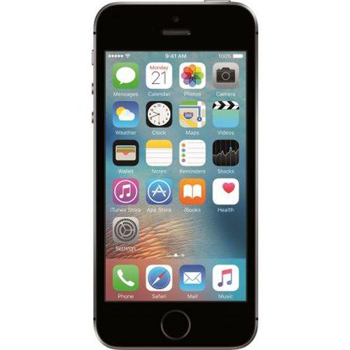 Смартфон Apple iPhone SE, 16GB, 4G, Space Gray. Phone SE е най-мощният 4-инчов телефон създаван досега. Телефонът притежава процесор A9, същият чип използван и за iPhone 6S. С архитектура от 64 бита, подобна на тази при персоналните компютри. Чипът A9 предлага невиждана скорост. Виж тук: http://www.hubav-den.com/%d1%81%d0%bc%d0%b0%d1%80%d1%82%d1%84%d0%be%d0%bd-apple-iphone-se-16gb-4g-space-gray/