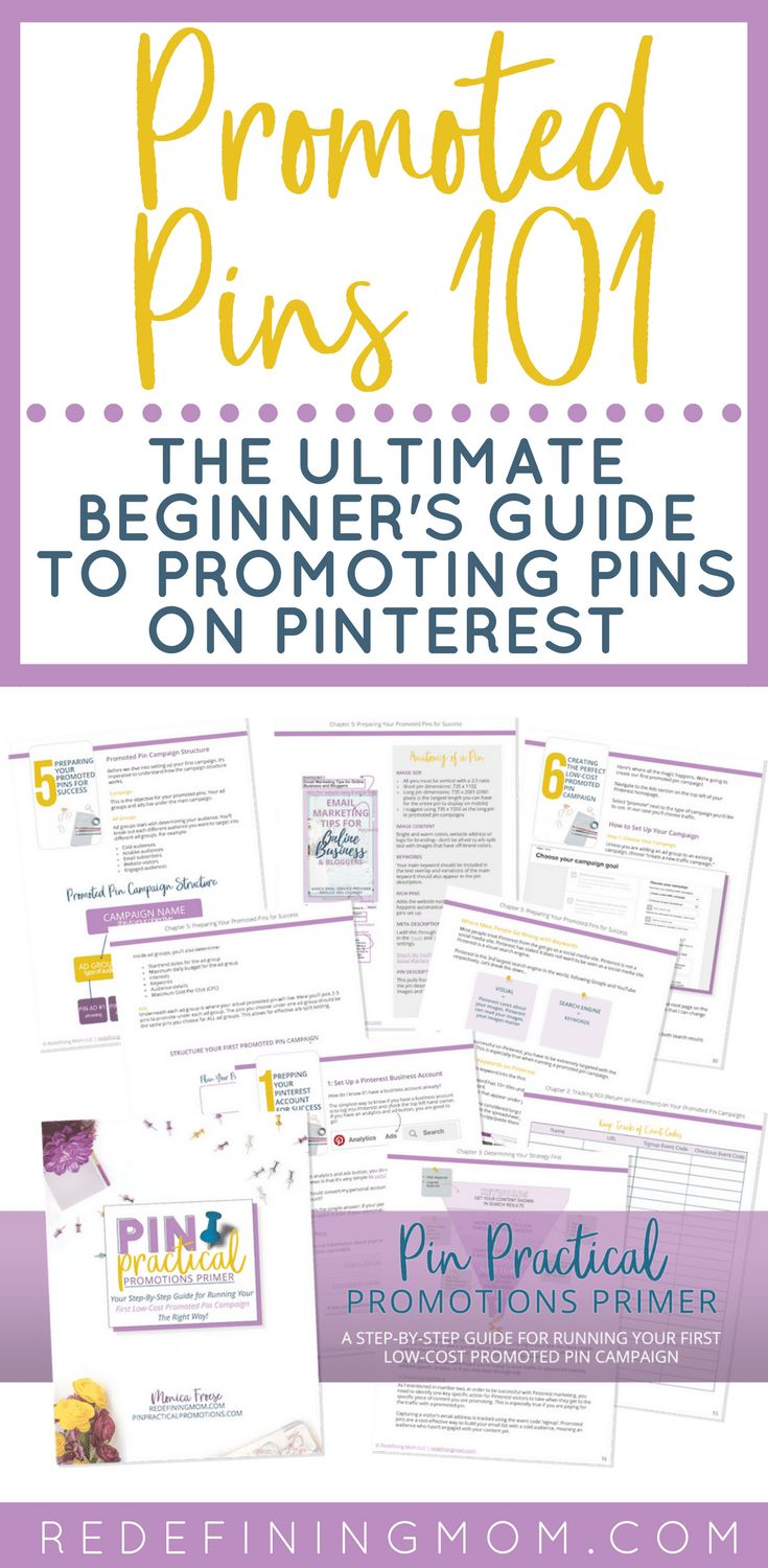 Your ultimate beginner's guide to promoted pins on Pinterest. Learn how to set up your first low-cost promoted pin campaign. Pinterest marketing tips / pinterest marketing strategies / pinterest marketing for bloggers via @redefinemom
