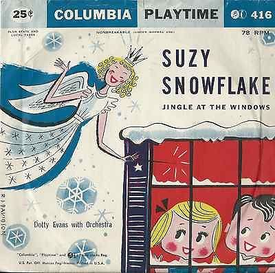 Rare-Vintage-Suzy-Snowflake-Jingle-At-The-Window-78rpm-record