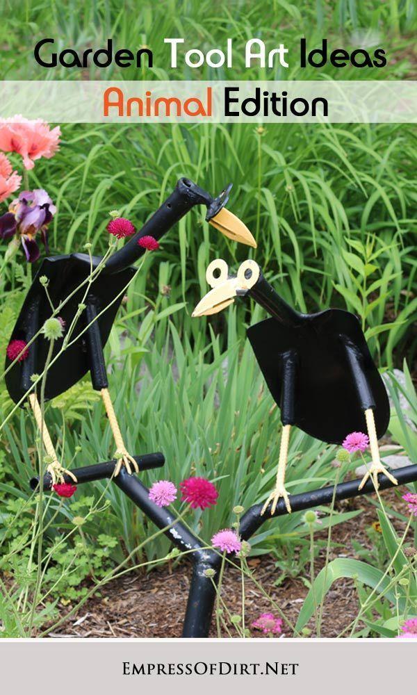 Garden Art Animals Made From Old Tools Garden Art Junk