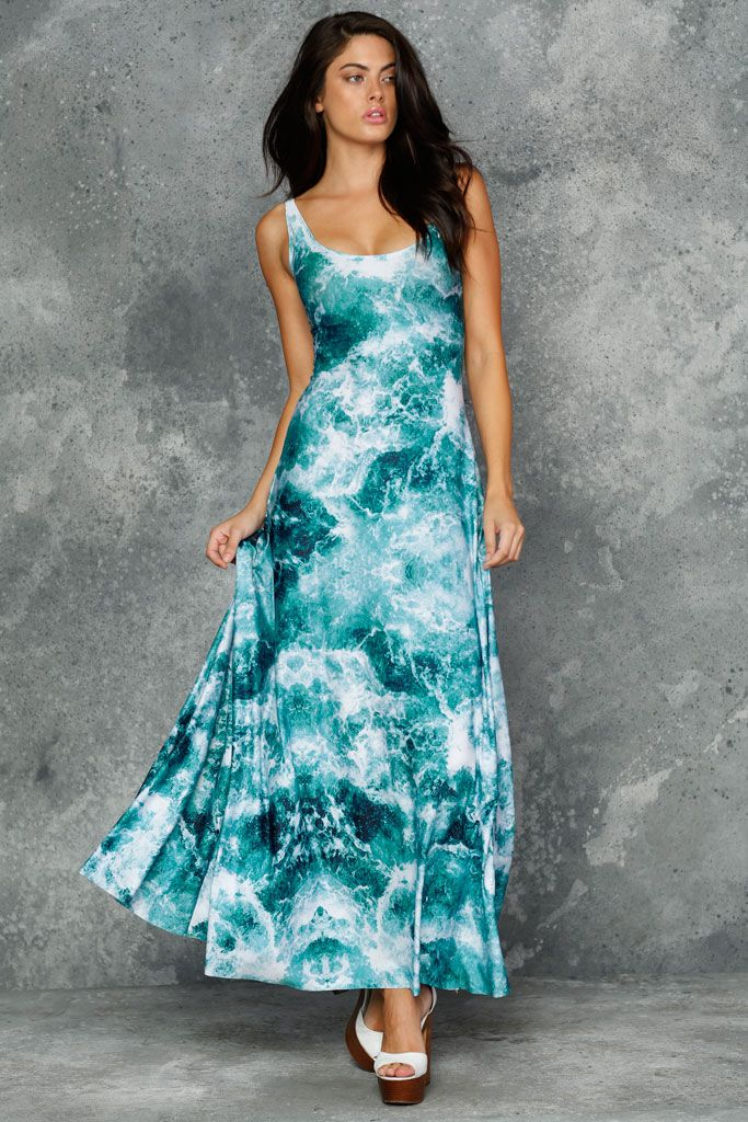 Troubled Waters Maxi Dress - 48HR (AU $140AUD) by BlackMilk Clothing