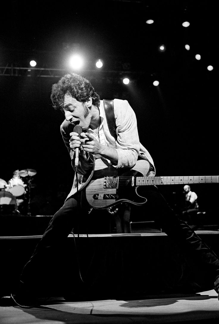 """Neal Preston caught this onstage shot of Springsteen during the performer's """"Darkness on the Edge of Town"""" tour. From: SEE BRUCE SPRINGSTEEN AS THE EVERYMAN SUPERSTAR """""""