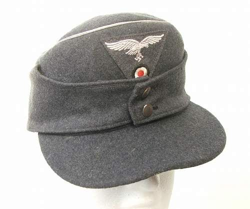 Luftwaffe Officers Two Button M43 Cap