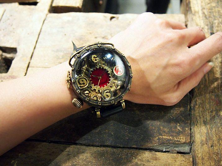 ゴシックラボラトリー×ガラクトーン コラボレーション スチームパンク腕時計「Rosso」  通販ネットショップ A STORY