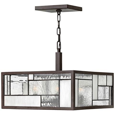 "Hinkley Mondrian 16"" Wide Buckeye Bronze Pendant Light - #V3865 | Lamps Plus"