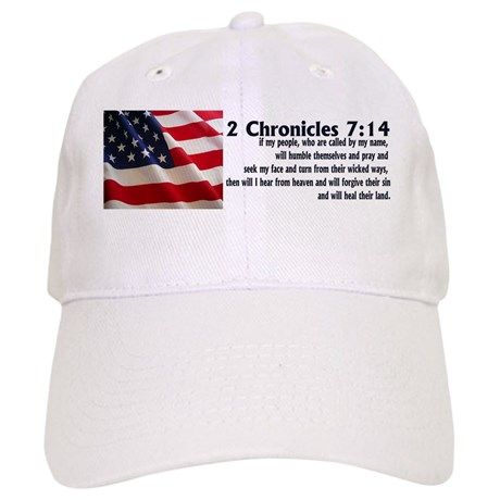 2 Chronicles 7:14 Baseball Cap on CafePress.com