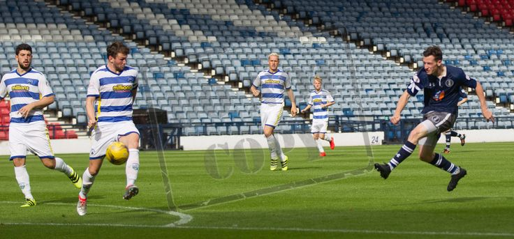 Queen's Park's David Galt scores during the IRN-BRU Cup game between Queen's Park and Morton.